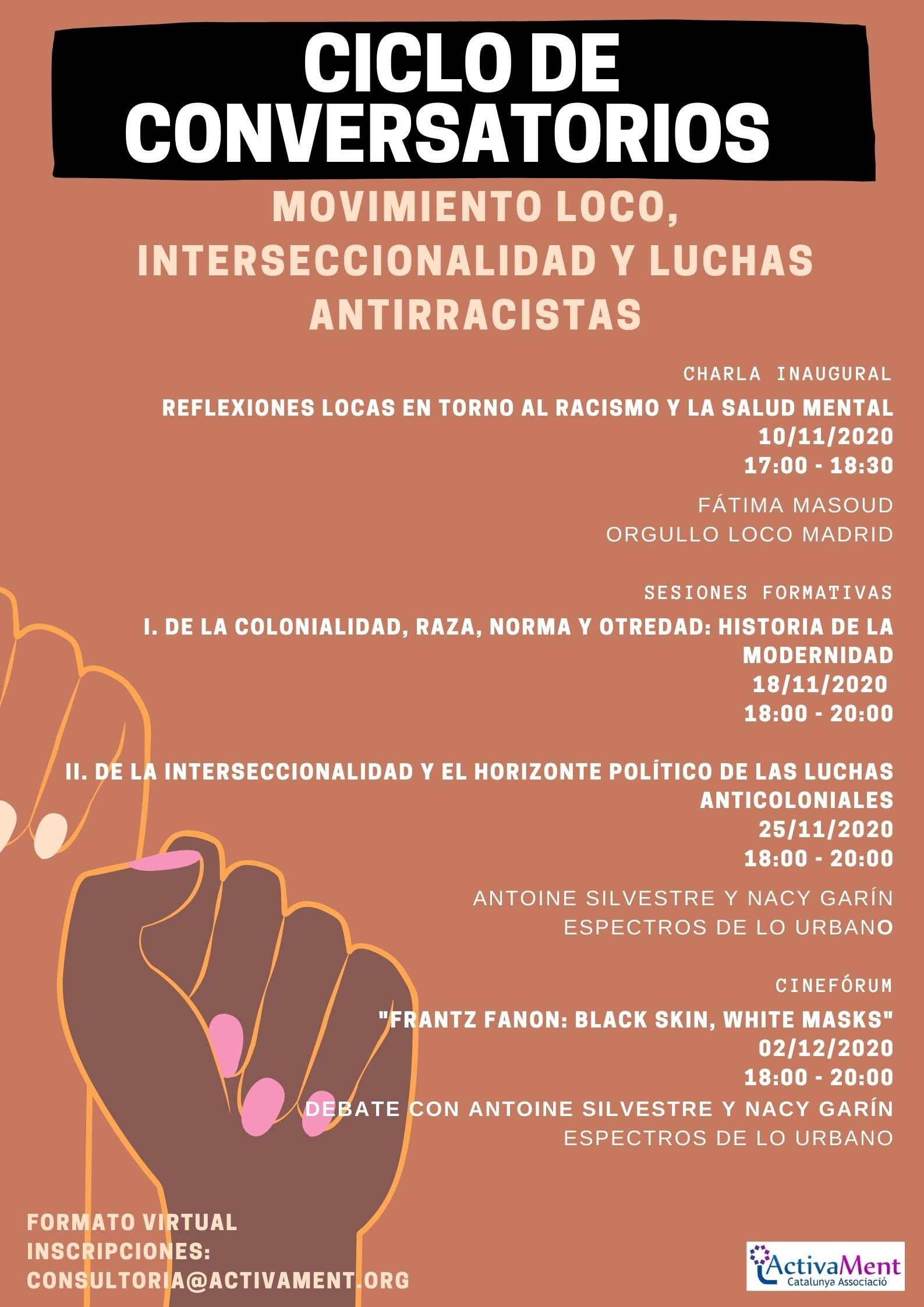 Ciclo Movimiento loco, interseccionalidad y luchas antirracistas
